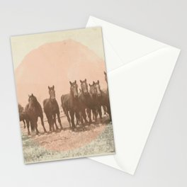 Band of Horses - Peach Stationery Cards