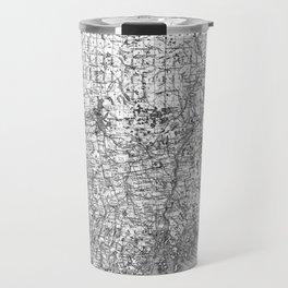 Vintage Map of Maine (1894) BW Travel Mug