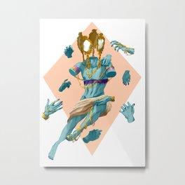 Nine Turning Mirrors Metal Print