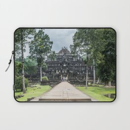 Tourists at Baphuon Temple at Angkor Thom I, Siem Reap, Cambodia Laptop Sleeve