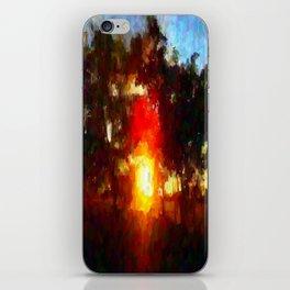 Sun Between Trees iPhone Skin