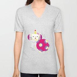 Katamari Kitty Unisex V-Neck