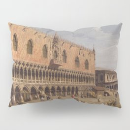 Venice, The Doge's Palace and the Riva degli Schiavoni by Canaletto Pillow Sham