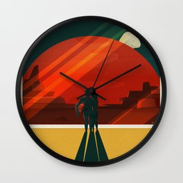 SpaceX Mars tourism poster Wall Clock