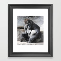Don't Make Me Come Over There! Framed Art Print