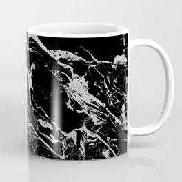 Modern silver black marble pattern Coffee Mug