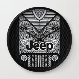 Aztec Jeep iPhone 4 4s 5 5c 6, pillow case, mugs and tshirt Wall Clock