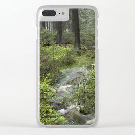Mountains, forest, water. Clear iPhone Case