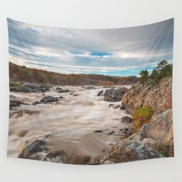 Great Autumn Sky Falls Wall Tapestry