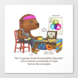 The Corporate Responsibility Specialist Canvas Print