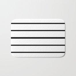 Simple Black and White Lines Decor Bath Mat