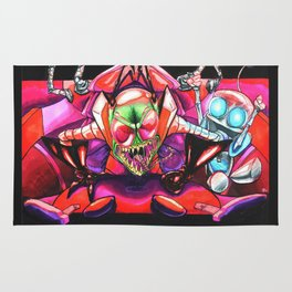 !!!ZIM!!! and Gir in a Voot Cruiser Rug