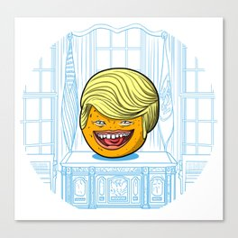 Annoying Orange in the White House Canvas Print