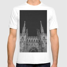 Milan: a city of Paradox  White MEDIUM Mens Fitted Tee