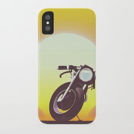 Vintage bike sunset iPhone Case