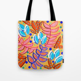 Whimsical Leaves Pattern Tote Bag