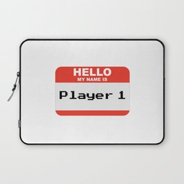 Hello my name is Player 1 Laptop Sleeve