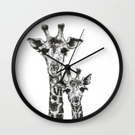 Giraffes by annmariescr Wall Clock
