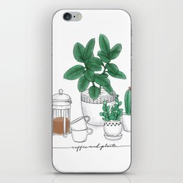Coffee and Plants iPhone Skin
