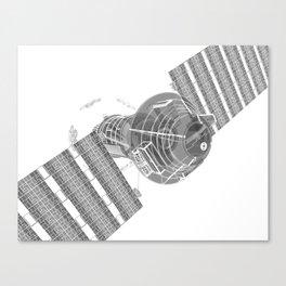 Explorer White and Grey Canvas Print