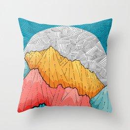 The crosshatch peaks Throw Pillow