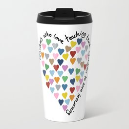 Hearts Heart Teacher Travel Mug