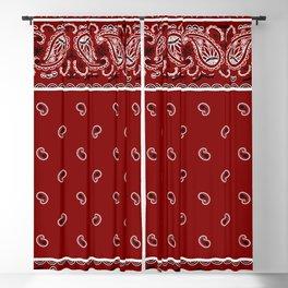 Classic Maroon Bandana Blackout Curtain