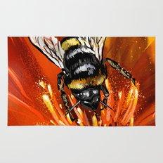 Bee on flower 1 Rug