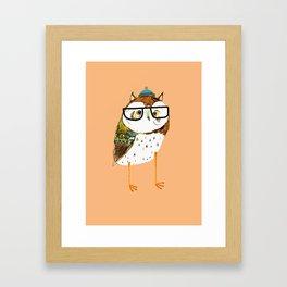 Owl Hipster Framed Art Print