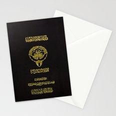 Kuwaiti Pass Black Stationery Cards