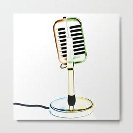 Retro Microphone Metal Print
