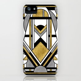 Up and Away - Art Deco Spaceman iPhone Case