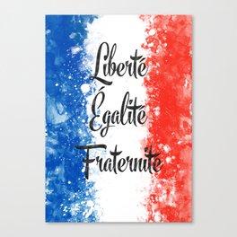 Liberté, égalité, fraternité Canvas Print