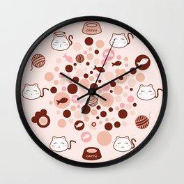 "Catty ""The Cute"" Cat Wall Clock"