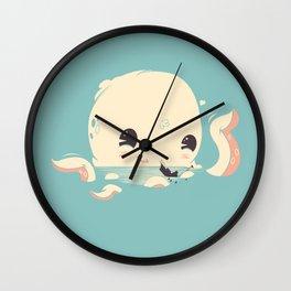 Adorable Octopus Battle Wall Clock