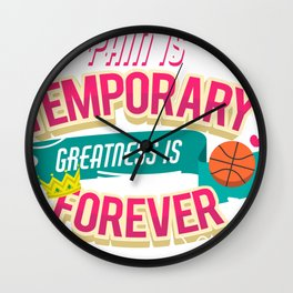 greatness is forever Wall Clock