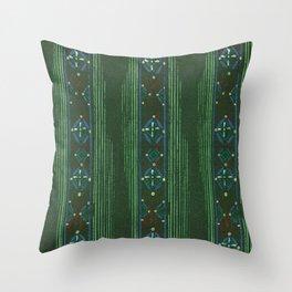 Vintage woodblock print of Japanese textile from Shima-Shima (1904) by Furuya Korin 144 Throw Pillow
