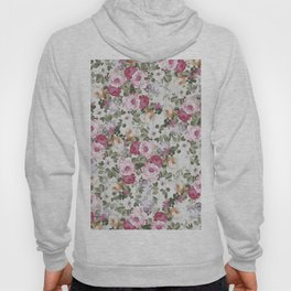 Vintage rustic white wood blush pink floral Hoody