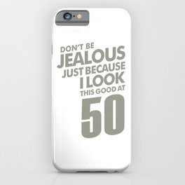 50 Years Old Birthday Gift iPhone Case