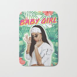 aaliyah the baby girl Bath Mat