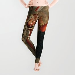 Chhinnimasta Hindu Goddess of Contradiction Leggings