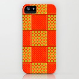 Orange Checks - Plain Orange and Orange Patterened Check Design iPhone Case