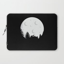 Ant In Front Of A Full Moon Laptop Sleeve
