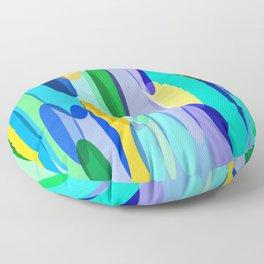 Elliptical abstract Floor Pillow