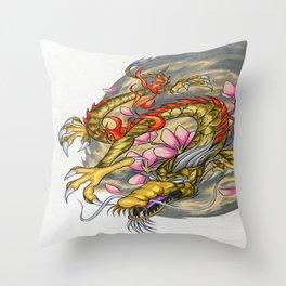 Warp Dragon Throw Pillow