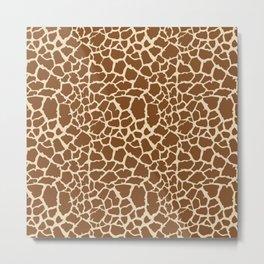 Markings by a Giraffe Metal Print