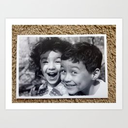 Dimples and Curls II Art Print