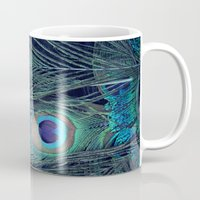 peacock Mugs featuring Peacock by KunstFabrik_StaticMovement Manu Jobst