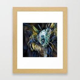 Abalone Butterfly Framed Art Print