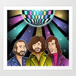 The Bee Gees Art Print